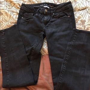 Amer. Eagle black skinny jeans. Super stretch. Sz6